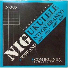 Encordoamento Para Ukulele Nylon Bolinha N-305 - NIG